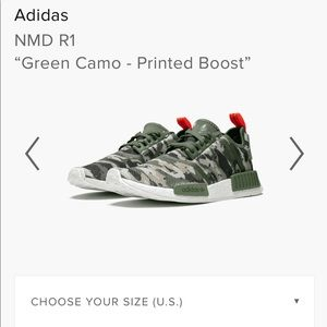 Adidas Men's size 8 Green Printed Camo Boosts